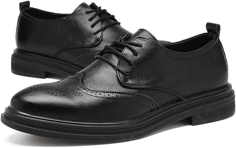 Zapatos Brogues De Hombre Retro Británico Clásicos Vestido Formal De Negocios Oxfords Mocasines De Baile De Boda Vintage Zapatos Planos Casuales De La Ciudad: Amazon.es: Zapatos y complementos