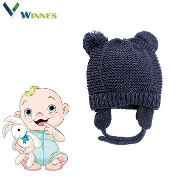 1f34a415234 Amazon.com  Baby Beanie Warm Hat-Infant by Winnes Boys Hat Cute Bear ...