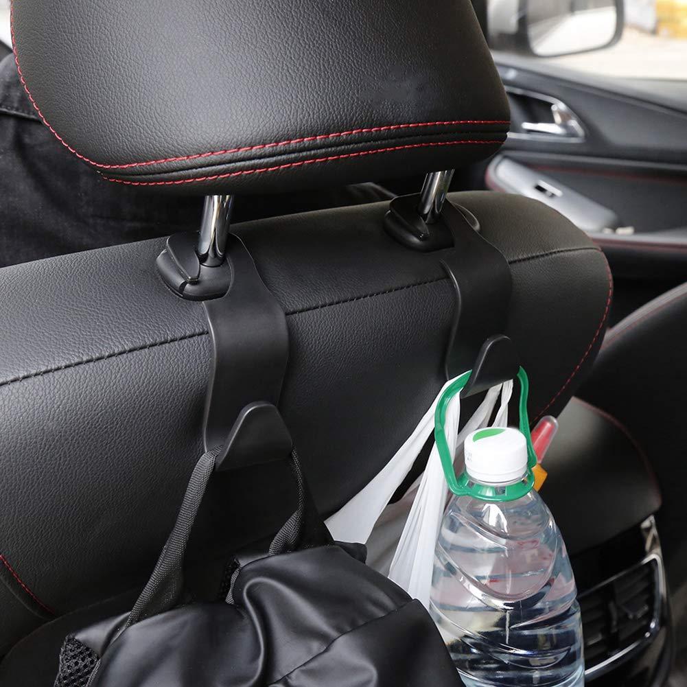 ZqiroLt Autositz R/ückenhaken Kopfst/ützenhalterung Plastikt/üte Flasche Kleinigkeiten Kleiderb/ügel Organizer
