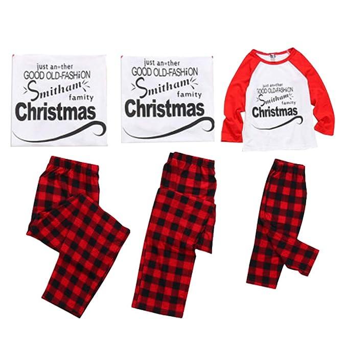 Juleya Feliz Navidad Juego de Pijamas a Juego para la Familia Ropa de Dormir Ropa de