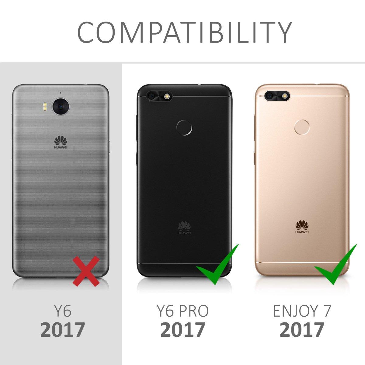 2017 Housse de Protection en Plastique Rigide Blanc-Rouge fonc/é m/étallique // Enjoy 7 Coque pour Huawei Y6 Pro // Enjoy 7 2017 kwmobile Coque Huawei Y6 Pro