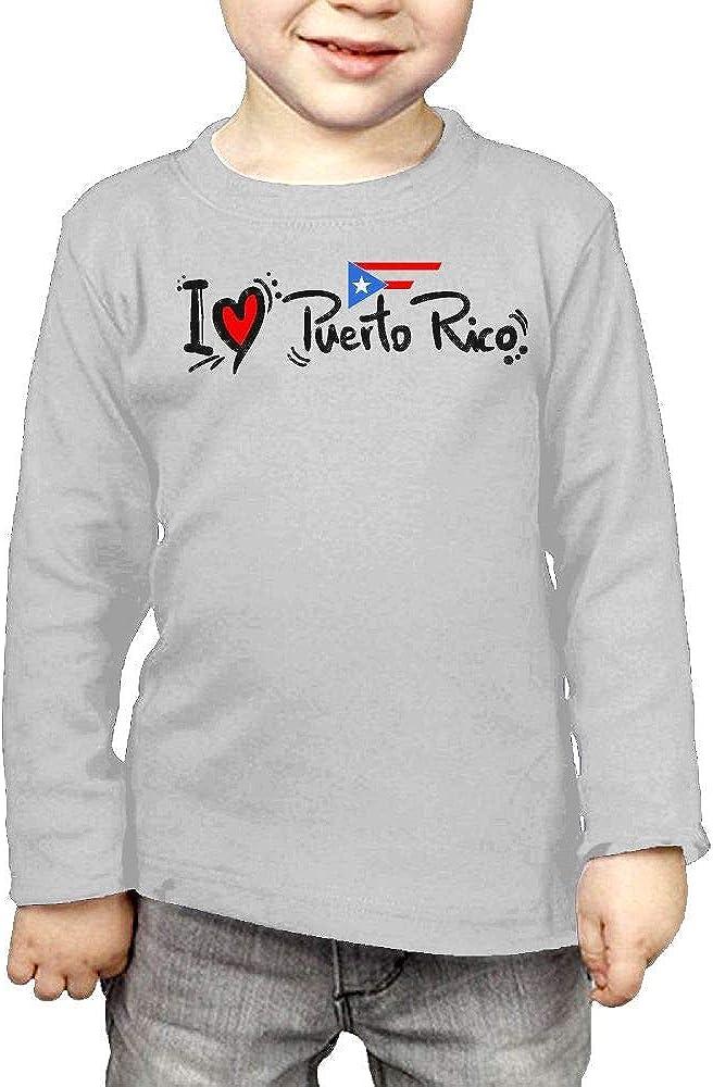 Baby Girls Kids I Love Puerto Rico ComfortSoft Long Sleeve Tee
