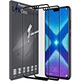 LK [2 Pack] Screen Protector for Honor 8X [Full Coverage],Tempered Glass [Lifetime Replacements Warranty] Screen Protector for Huawei Honor 8X - Black