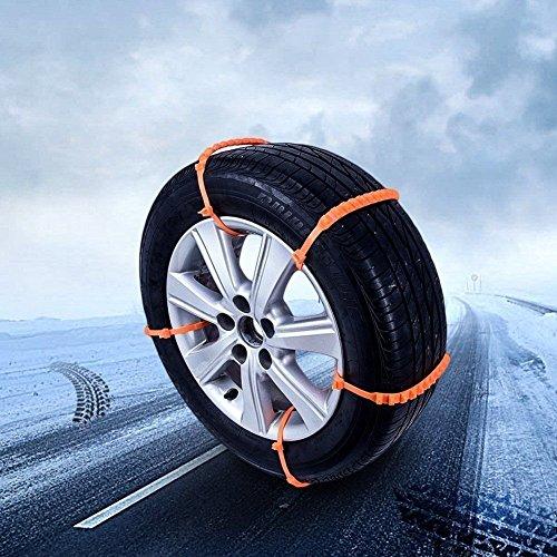 ZZM 10 PCS Cadenas de Nieve Llaves de Cable de Neumáticos, Cadenas de Neumáticos de Coche Universal antideslizante Cadenas de Neumático de Nieve para Coche ...