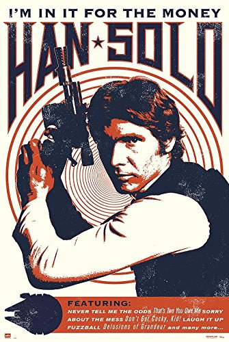Star Wars Han Solo Art 24x36 Poster