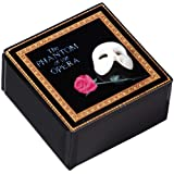 The San Francisco Music Box Company Phantom of the Opera Mask and Rose Glass Music Box by