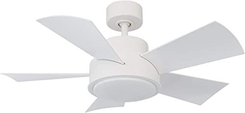 Elf Indoor/Outdoor 5-Blade Smart Ceiling Fan 38in Matte White