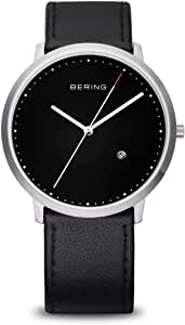 BERING Men's Analogue Quartz Watch with Leather Strap 11139-402