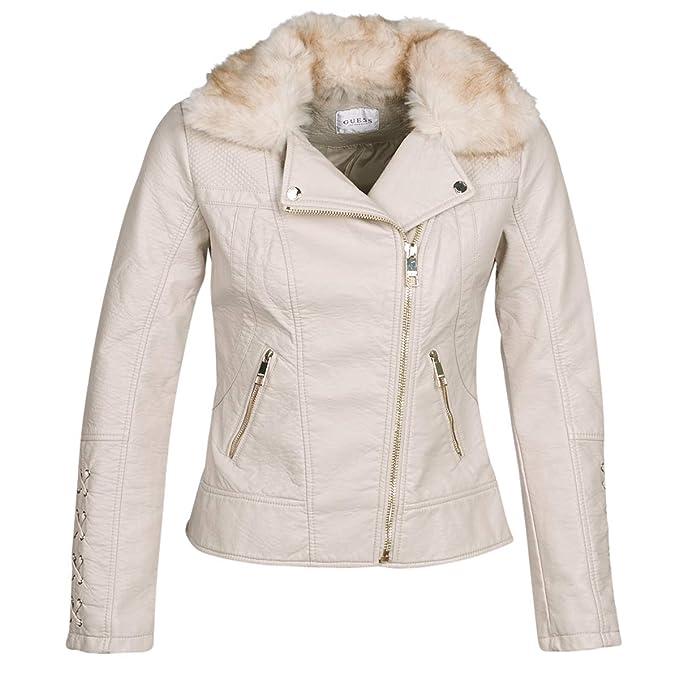Guess - Abrigo - para Mujer, Color Beige, Talla XL: Amazon.es: Zapatos y complementos