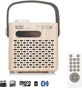 Amazon.com: InstaBox M80 Bluetooth Radio FM USB TF lector de ...