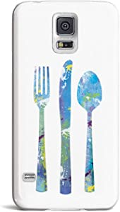 Inspired Cases - 3D Textured Galaxy S5 Case - Rubber Bumper Cover - Protective Phone Case for Samsung Galaxy S5 - Foodie Food Critic Chef
