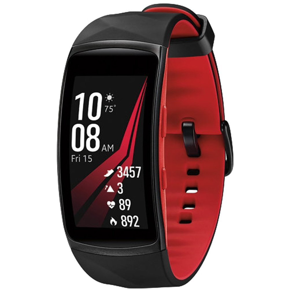 Samsung Gear Fit2 Pro Fitness Smartwatch - Red, Small (SM-R365NZRNXAR) + Fusion Bluetooth Headphones + Gear Black Jacket Case + 1 Year Extended Warranty by Beach Camera (Image #2)