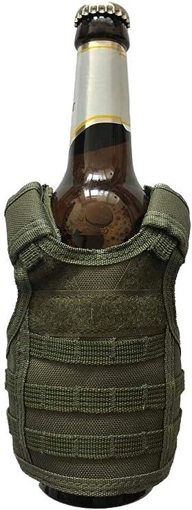 Taktische Bierweste Einstellbare Weinflasche Abdeckung Molle Miniatur E7F7