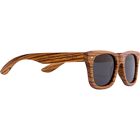 9021ccd8148 WOODIES Full Zebra Wood Sunglasses  Amazon.co.uk  Clothing