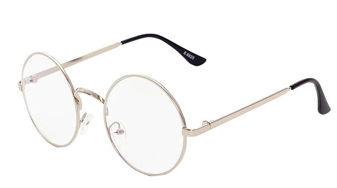 Unisex Tondi Montatura Occhiali da Vista Forepin® Donna Occhiali in Metallo con Lenti Trasparenti - Oro tVielZIPY
