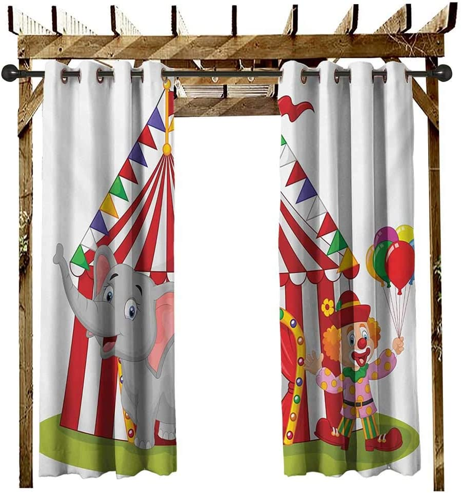 leinuoyi Circus, Cortina de Exterior Moderna, diseño de Elefante ...