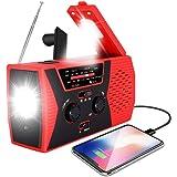 2020 Upgraded Emergency Solar Hand Crank Radio, RegeMoudal Hand Crank AM/FM/NOAA Weather Radio with Flashlight, Reading…