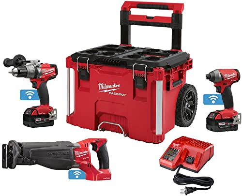 Milwaukee 2796-22PO M18 Fuel with ONE-Key 18-Volt Lithium-Ion Brushless Cordless Combo Kit 3-Piece