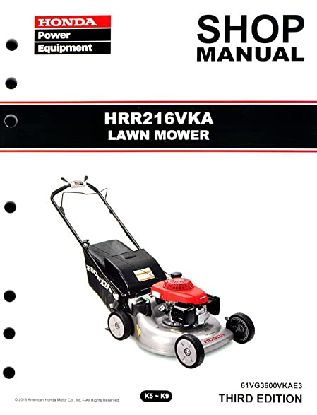 amazon com honda hrr216 vka lawn mower service repair shop manual rh amazon com