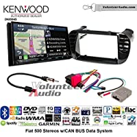 Volunteer Audio Kenwood Excelon DNX994S Double Din Radio Install Kit with GPS Navigation Apple CarPlay Android Auto Fits 2012-2015 Fiat 500 (Black)