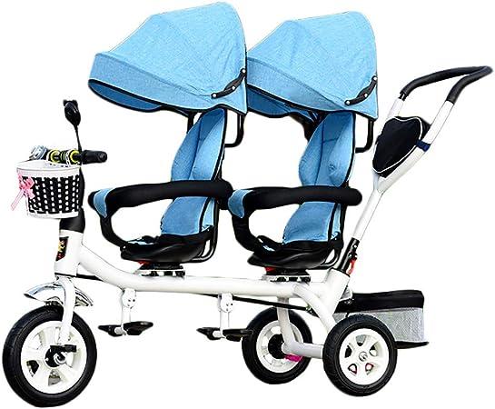Amazon.com: CHEERALL Kids 4 en 1 Trike doble ligero niño 3 ...