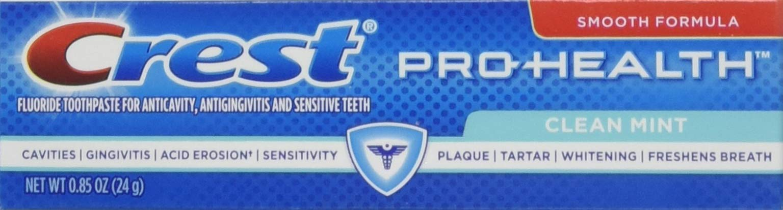 Crest 037000995609 Pro-Health Clean Mint Toothpaste, Smooth Formula 0.85 oz, Travel Size, (36 Pack)