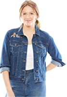 Women's Plus Size Jacket, Cropped Length, Stretch Denim & Twill