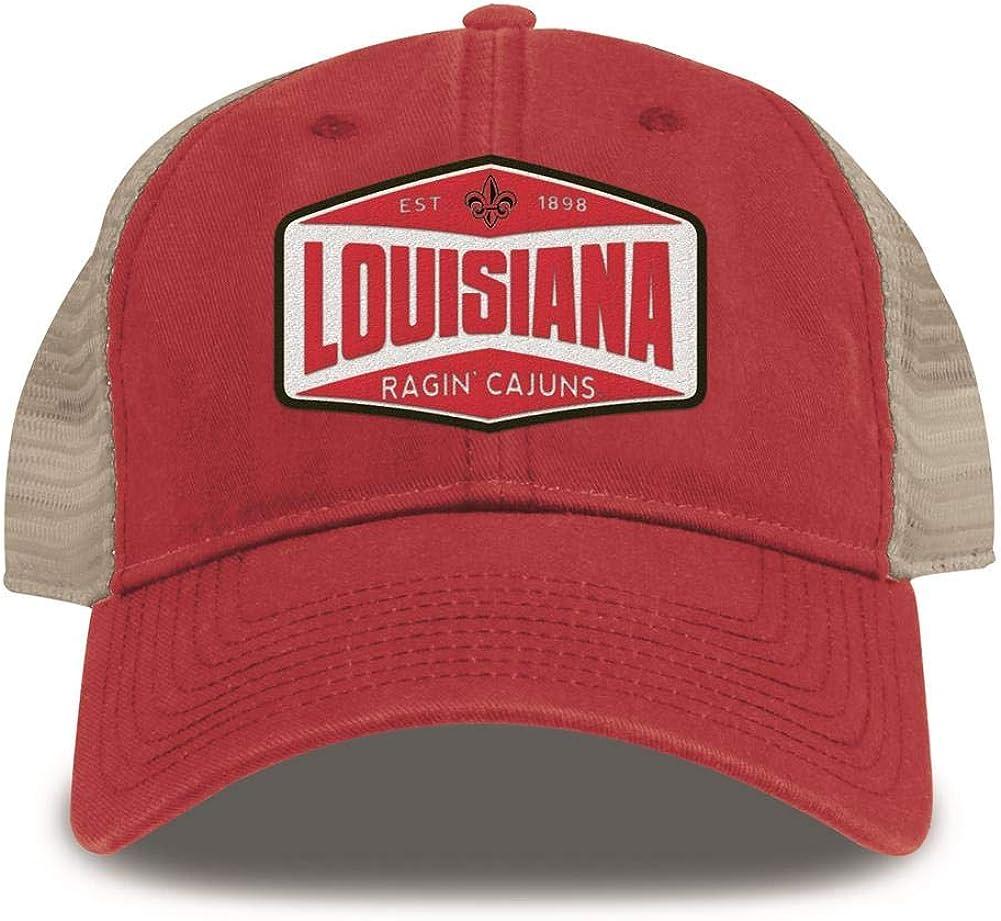Sports Snapback Mesh Low Profile Unstructured USA State of Louisiana Trucker Hat Baseball Cap