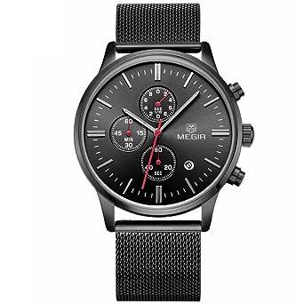 Relojes de Hombre Moda 2018 Stainless Steel Mesh Band Waterproof Business Dress Watch Hour for Man