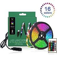 TV LED Backlights, LED Strip lights 6.56ft for TV 46-60 inch, LED Rope Lights for Bedroom with Remote, 16 Color Changing…