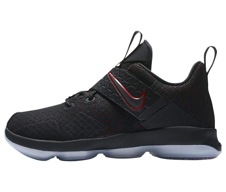 NIKE Kid's Lebron XIV GS Basketball Shoes (Black/Black/University Red, 7 Big Kid US) by Nike (Image #2)