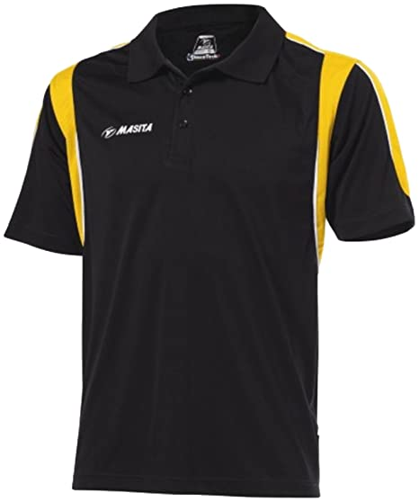 Masita Polo Mens camiseta media las mangas Multi Sports rayas ...