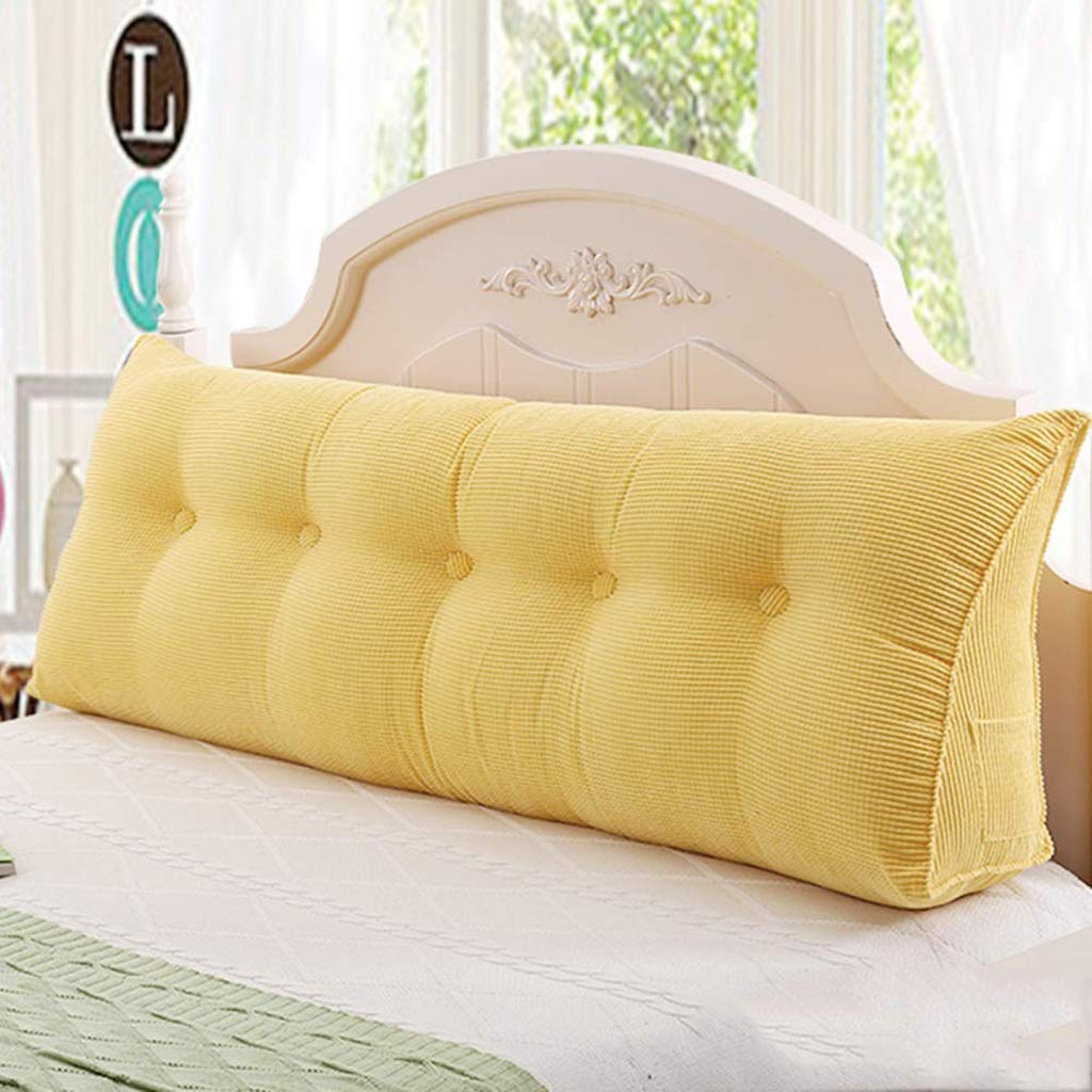 Sofa Bed Large Filled Triangular Wedge Cushion Bed Backrest Positioning Support Pillow Reading Pillow Office Lumbar Pad with Removable Cover (Color : J, Size : 200x23x50cm(79x9x20'')) by VVpillow