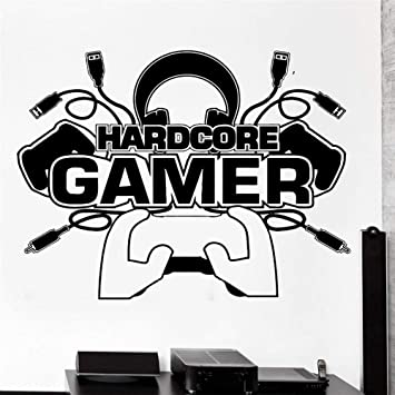 Bomdow Gamer Tatuajes De Pared Gamer Player Gaming Vinyl Para ...