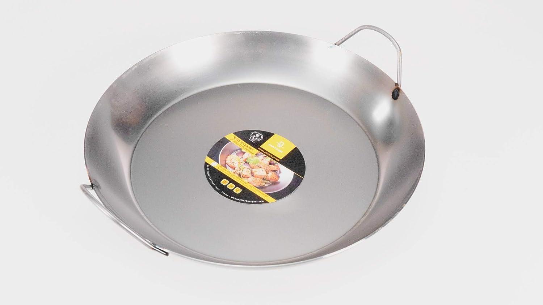 """Matfer Bourgeat Black Steel Paella Pan, 17 3/4"""""""