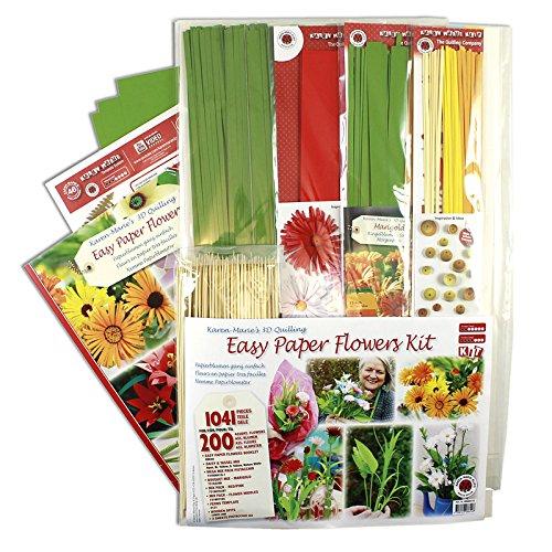 Karen Marie Klip: Quilling KIT, Easy Paper Flower by Karen Marie Klip Papirmuseets By A/S