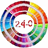 Embroidery Floss Total 1920m 240 Strings 100% long-staple Cotton DIY Cross-stitch Thread friendship bracelet DMC colors craft floss