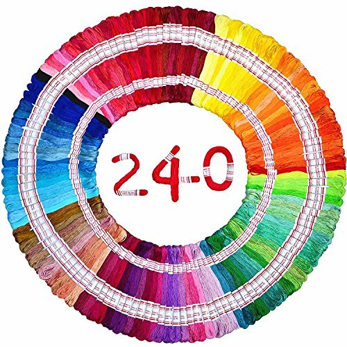Embroidery Floss Total 1920m 240 Strings 100% long-staple Cotton DIY Cross-stitch Thread friendship bracelet DMC colors craft floss by LE PAON