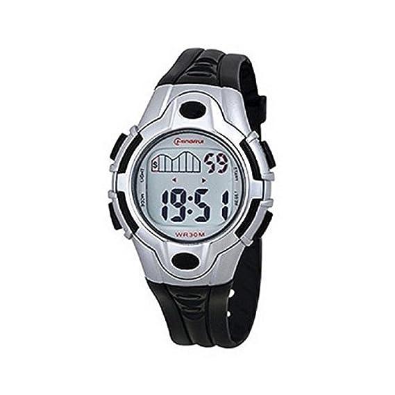 Reloj mujer Cuarzo digitale negro Sport Chrono alarma etanche