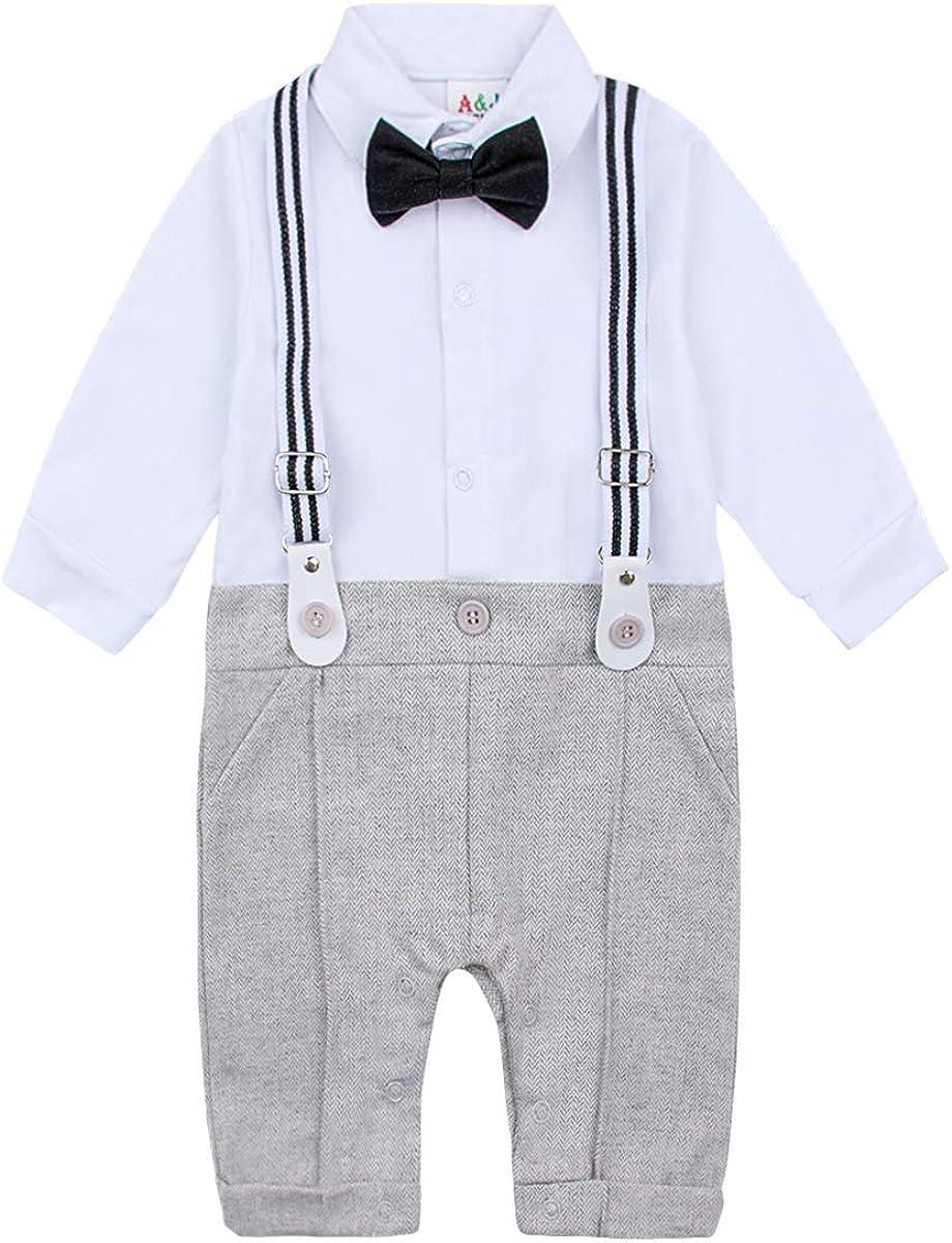 3-18 Months mintgreen 3pcs Baby Boy Suit Set Gentleman Jumpsuit /& Vest Coat /& Berets with Bowtie and Supenders