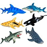 Shark Toys Figures,Ocean Animals,Plastic Sea Creatures,Kids Gifts,Zoo Animals,Aquatic Educational Toys,6 Piece