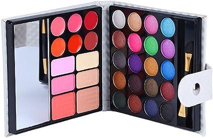 CAN_Deal Estuche de cosméticos, paleta de sombra de ojos, paleta de sombra de ojos maquillaje con brillo, juego de 20 sombras de ojos en polvo, pincel de 2: Amazon.es: Belleza