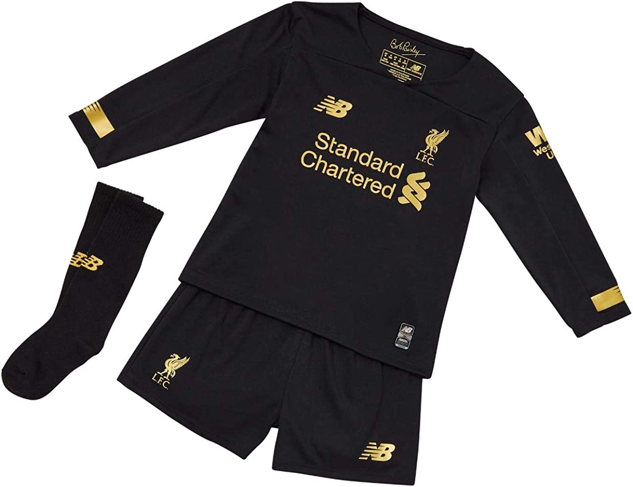 Amazon Com New Balance 2019 2020 Liverpool Home Goalkeeper Mini Kit Clothing