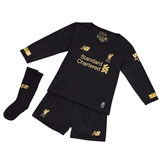 buy popular ac5a3 6e245 Liverpool FC Home Kit 2019/2020 Black Infant Football Goalkeeper Kit LFC  Official