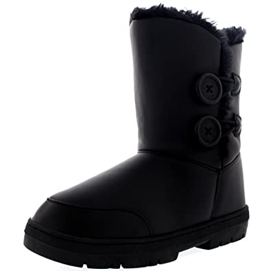 Amazon.com | Womens Twin Button Waterproof Winter Snow Boots ...