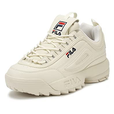 Fila Disruptor II Premium Womens Turtle Dove Beige Trainers-UK 6 ...