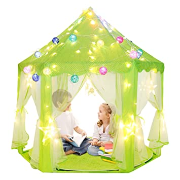 Kids Indoor Princess Castle Play Tents Pink Princess Tent Children Game Play Toys Tent  sc 1 st  Amazon.com & Amazon.com: Kids Indoor Princess Castle Play Tents Pink Princess ...