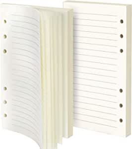 Purture Refill Lined Paper, Leather Journal Refills Lined, 6-Holes Inserts 160 Sheets (320 Pages) for A6 Refillable Journals Notebooks, 2 Pack(Each Pack 80 Sheets, 160 Pages)