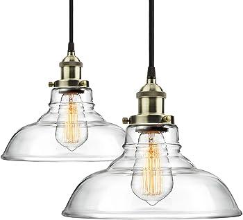 2-Pack Shine Hai Pro 1-Light Industrial Hanging Lamp