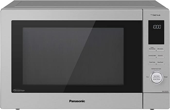 Panasonic NN-CD87KS Home Chef 4-in-1 Microwave Oven with Air Fryer, Convection Bake, FlashXpress Broiler, Inverter, 1000 Watt, Stainless Steel, 1.2 Cu.Ft, cft